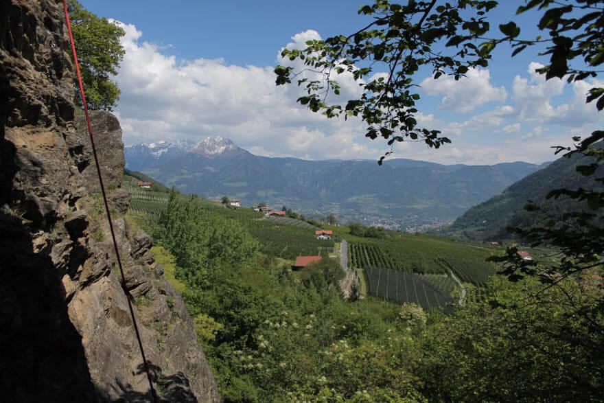 Klettern Meran Burgstallknot