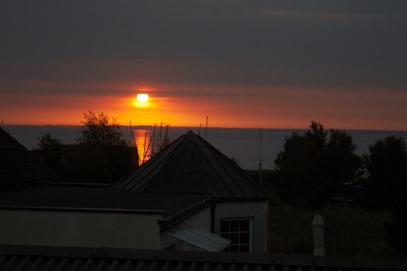 Sonnenaufgang vom Kapitänshaus aus