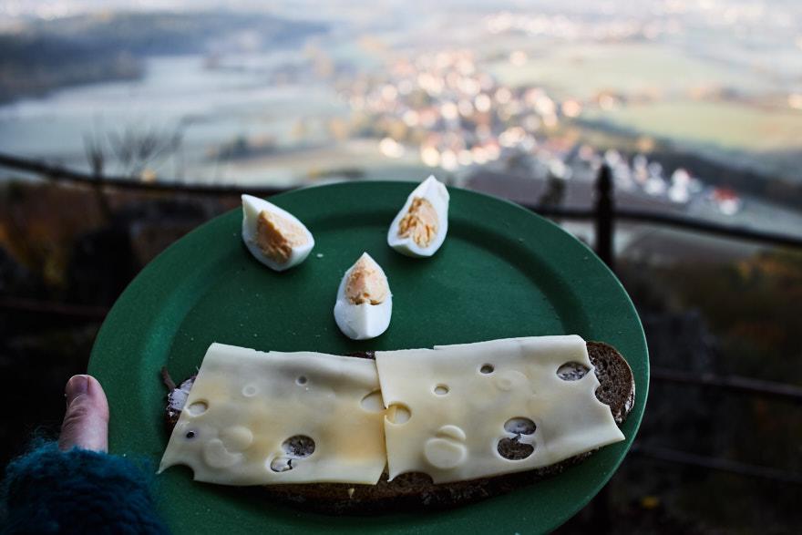 Sonnenaufgang am Glatzenstein Frühstücksteller