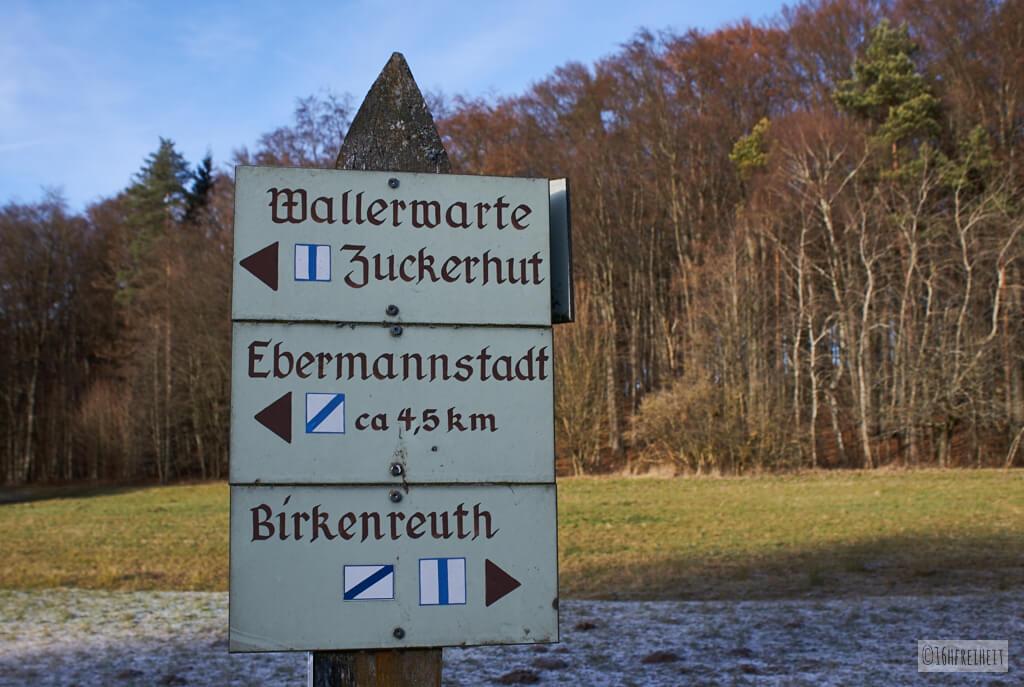 Zuckerhut bei Birkenreuth_Markierung