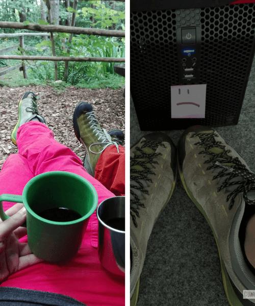 Schuhe_Scarpa Vitamin im Wald und im Büro