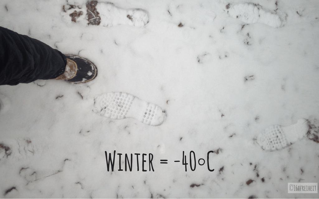 Sorel Caribou im ersten Schnee