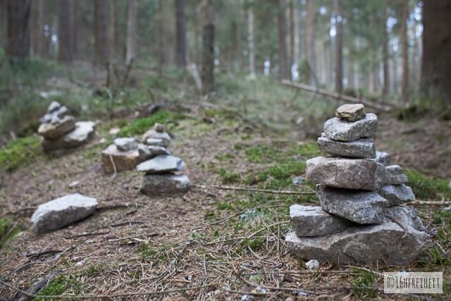 Wanderung auf den höchsten Berg Frankens_Steinmännchen