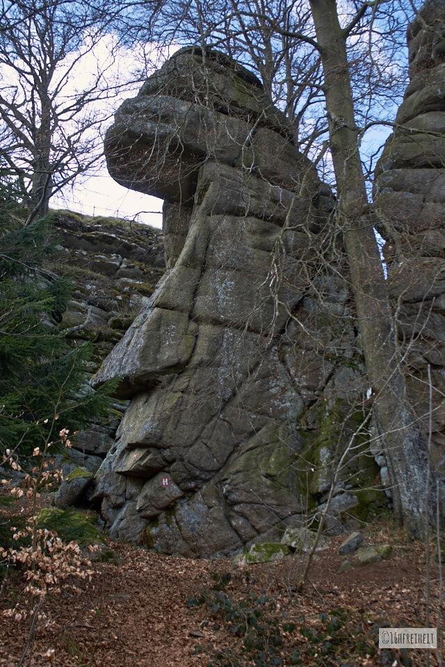 Wanderung auf den höchsten Berg Frankens_Rudolfsteiner Gesicht