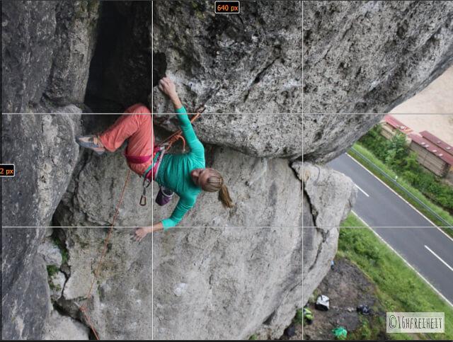 5 Tipps für Anfänger: So machst du schönere Fotos beim Klettern_Goldener Schnitt