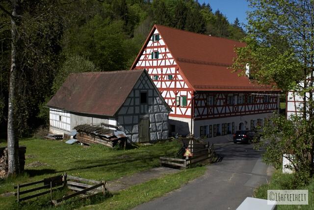 Fachwerkhäuser der Ziegelmühle im Trubachtal